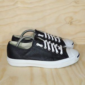 Converse Jack Purcell Leather Low Black Size 8